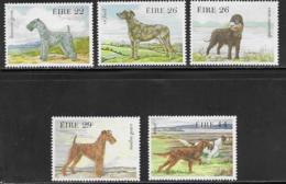 Ireland, Scott # 563-7 MNH Drawings Of Dogs, 1983 - 1949-... Republic Of Ireland