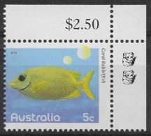 2010 5c Coral Rabbit Fish - 2 Koala Reprint MUH Top Right Corner - Nuovi