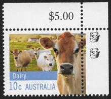 2012 10c Dairy Cow - 2 Koala Reprint MUH Top Right Corner - Nuovi