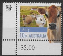 2012 10c Dairy Cow - Koala Reprint MUH Bottom Left Corner - Nuovi