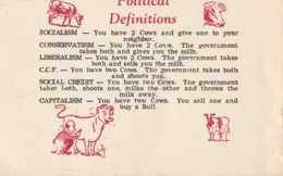 Political Definitions  Socialism - You Have 2 Cows And Give One To Your Neighbor. Conservatism - You Have 2 Cows. - Humour