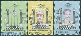 Philippines 1992 Nilad Freemasonry Lodge 3v, (Mint NH), Various - Freemasonry - Franc-Maçonnerie