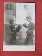RPPC  Young Boy & Girl With Boxing Gloves   Ref 3640 - Boxing
