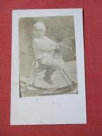 RPPC  Child On Wood Horse     Ref 3640 - Children