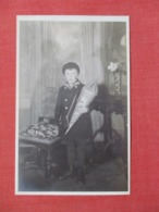 RPPC   Boy With Gift  Ref 3640 - Postcards