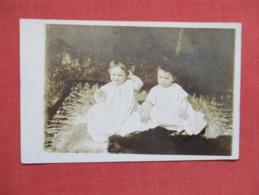 RPPC   2 Young Children     Ref 3640 - Postcards