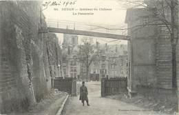 """/ CPA FRANCE 08 """"Sedan, Intérieur Du Château, La Passerelle"""" - Sedan"""