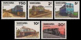 Tansania 1985 - Mi-Nr. 281-285 ** - MNH - Lokomotive / Locomotive - Tansania (1964-...)