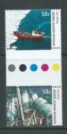 Australian Antarctic Territory 2003 50c Ships Se - Tenant Gutter Pair  MNH - Unused Stamps