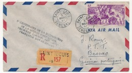 """SENEGAL - Enveloppe Depuis Saint-Louis 5 Mars 1947 - Cachet """"V° Centenaire De La Découverte De La Guinée Portugaise... - Storia Postale"""