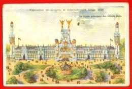 803 - BELGIQUE - LIEGE - Exposition Universelle De Liège 1905 - Façade Principale Des Gds Halls - DOS NON DIVISE - Liege