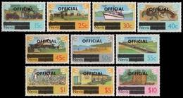 Nevis 1980 - Mi-Nr. Dienst 1-10 ** - MNH - Freimarken Mit Aufdruck - St.Kitts E Nevis ( 1983-...)