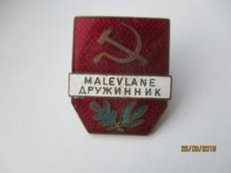 USSR RUSSIA ESTONIA VOLUNTARY MILITIA POLICE NUMBERED  BADGE   ,o - Militaria