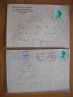 Réunion : Deux Lettres Avec En-tête Différentsdes Ets Fleurié Rue Du Maréchal Leclerc à St-Denis. - Réunion (1852-1975)