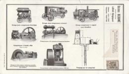"""Carte Publicitaire """"pompes & Compresseurs"""" Usine Beduwé à LIEGE Pour MANAGE Affr. PREO 10c Olive 1931 - Vorfrankiert"""