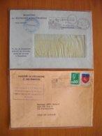 Réunion : Deux Lettres Avec En-têtes Trésorerie Générale Pensions Et Direction De La Concurrence Et Des Prix - Réunion (1852-1975)