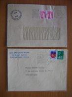 Réunion : Deux Lettres Vice-Rectorat Division Des Examens Et Lycée D'Etat Leconte De Lisle. - Isola Di Rèunion (1852-1975)