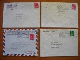 Réunion : Quatre Lettres UMAB, Société Commerciale Maurice Réunion, Imprimerie Ah Sing Et Central Hotel. - Isola Di Rèunion (1852-1975)