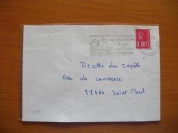 Réunion : Lettre De 1976 Pas De Tirets Du  Tout Dans La Date De La Flamme. - Isola Di Rèunion (1852-1975)