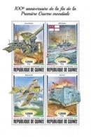 GUINEA - 2018 - World War One Centenary - Perf 4v Sheet - Djibouti (1977-...)
