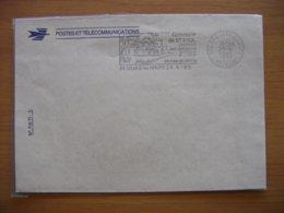 Réunion : Lettre à L'en-tête De La Poste «Musée De Villèle» De 1985 Avec Absence De Tiret Entre Le Jour Et Le Mois - Réunion (1852-1975)