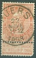 Belgique 57 Ob Second Choix Obli Puers - 1893-1900 Schmaler Bart