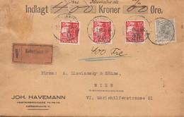 Dänemark: Wertbrief  1932 Kopenhagen Nach Wien - Dänemark