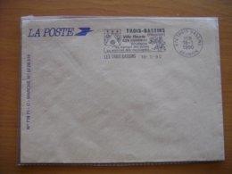 Réunion : Deux Lettres à L'en-tête De La Poste Et Oblitérations Mécaniques Diverses - Réunion (1852-1975)