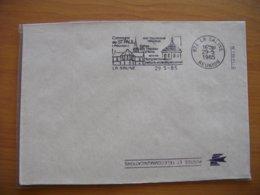 Réunion : Lettre à L'en-tête De La Poste Saline «Son Patrimoine Religieux » Absence De Tiret Entre Le Jour Et Le Mois - Isola Di Rèunion (1852-1975)