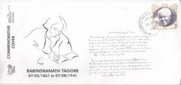 India 2019  Nebel Laureate  Rabindranath Tagore  1931 Litereature Nobel Awardee  Special Cover # 19522  D  Indien Inde - Nobel Prize Laureates