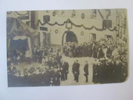 Rare! Visit Of The Austrian Emperor Franz Joseph,1905 Mailed To Sibiu Postcard Photo With 5 Heller Overprint Stamp - Koninklijke Families