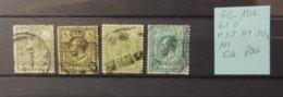 GB - 1912 - Filigrane E - N° 148 - 149 - 150A - 151 - Value : 80 Euros - Usati