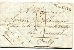Guerres De NAPOLEON LAC De CORFOU Du 13/04/1812 Entrée Par OTRENTE Taxe De 19 Pour TRELLY MANCHE - Marcophilie (Lettres)