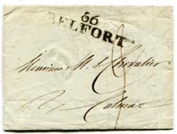 HAUT RHIN De BELFORT LAC Du 31/10/1808 Linéaire 47x12 Et Axe De 3 Pour COLMAR - Storia Postale