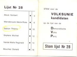 Kalender Calendrier - 1983 - Publicité Reclame Stem Volksunie Kandidaten - Petit Format : 1981-90