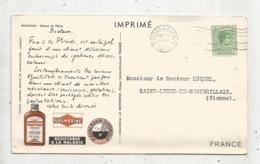 Timbre Sur Carte Postale, Imprimé , Plasmarine ,  Two Pence, MASSAU.BAHAMAS ,1952, 2 Scans, Retour De Pêche,pêcheurs - Bahamas (...-1973)