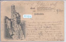 LIECHTENSTEIN- GRUSS VOM LICHTENSTEIN- USAGEE- 9 MAI 1898 - Liechtenstein