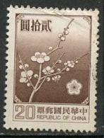 Chine - Formose - Taïwan 1979 Y&T N°1238 - Michel N°1292 (o) - 20d Fleurs De Prunier - Gebraucht