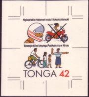 TONGA Cromalin Proof 1991 Wear Motorbike Helmet - Obey Police - Road Safety - 5 Exist - Accidentes Y Seguridad Vial