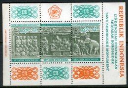 INDONESIE: ZB 605 MNH** Blok 10 1968 Herstelwerkzaamheden Borobudurtempel - Indonesia