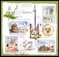 7.11.2002; Hauptstädte Europas Blockausgabe ROME, Mi-Nr. Block 30, 3665 - 3668, Gest. Los 51626 - Oblitérés