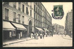 CPA Paris, Rue Des Envierges, Vue De La Rue - France