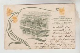 CPA PIONNIERE LUGANO (Suisse-Tessin) - Hôtel Du Parc Beau Séjour Villa Ceresio Et Casa Fattore Dirigé Mme Veuve A. BEHA - TI Tessin
