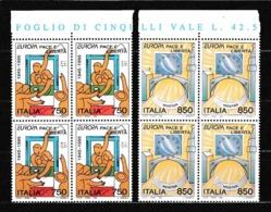 1995 Italia Italy Repubblica EUROPA CEPT EUROPE 4 Serie Di 2v. Quartina MNH** Bl.4 - Europa-CEPT