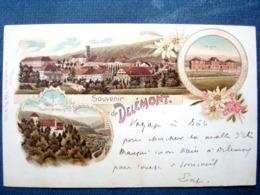 Suisse ,delémont ,souvenir De 1898 ......timbres Cachets Verso - Other