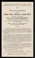 Wervik, Wervicq, Bevere-Oudenaarde, Paul Six, Van Cauwenberghe - Imágenes Religiosas