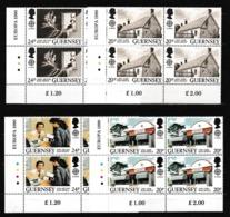 1990 Guernsey EUROPA CEPT EUROPE 4 Serie Di 4v. In Quartina MNH** Bl.4 - Europa-CEPT