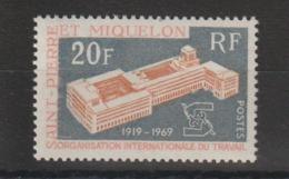 Saint Pierre Et Miquelon 1969 OIT 398 1 Val ** MNH - St.Pierre & Miquelon
