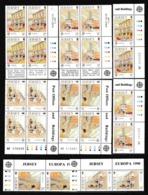 1990 Jersey EUROPA CEPT EUROPE 6 Serie Di 4v. In Quartina + Coppia MNH** - Europa-CEPT
