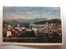 Carte Postale Saint Mandrien (83) Vue Generale (Petit Format Couleur Correspondance 1951 ) - Saint-Mandrier-sur-Mer
